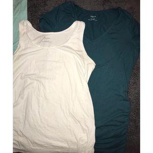 Tank Top + Teal T-shirt (Maternity)